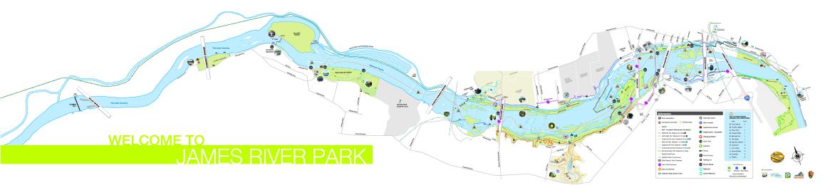 James River Park Map 2017